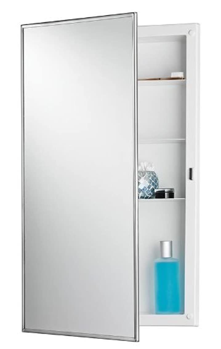 NuTone 781045 Recess Mount Cabinet with Stainless Steel Mirror Frame from the Builder Collecti, Stainless Steel