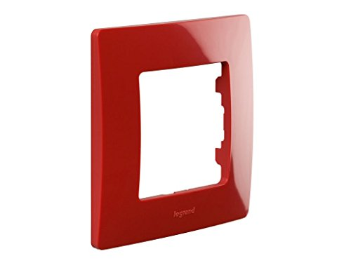 Legrand 397876 Marco simple para 1 interruptor, Rojo