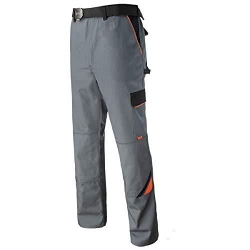 ART.MAS Bundhose Arbeitshose Arbeitskleidung Hose 320g/m2, grau Professional, Gr. 46-64 (46, grau)