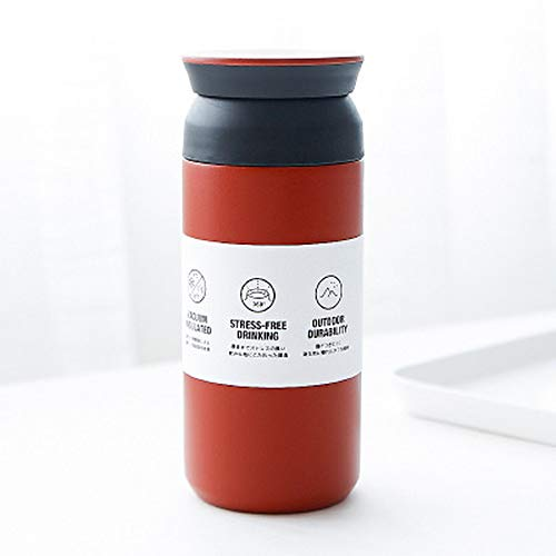 Wgath Scrub Waterfles Koffie Effen Kleur Roestvrijstalen Auto Mok Waterkop Koude Vacuümisolatie Met Filter Duurzame Thermosflessen