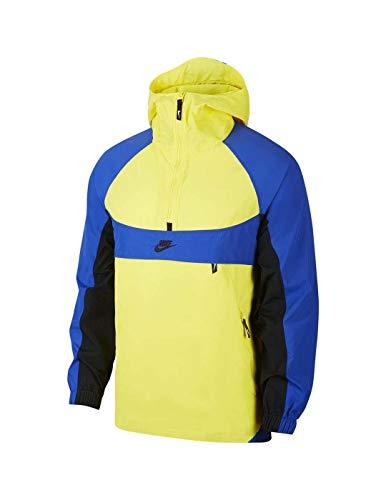 NIKE Sportswear Sudadera, Hombre, Dynamic Yellow/Game Royal/Black, L