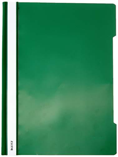 Leitz 41910055 Standard Hefter (A4, langes Beschriftungsfeld, PVC) grün