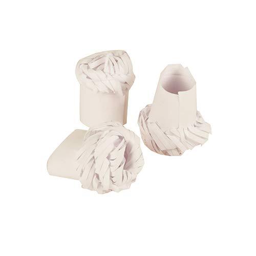 PAPSTAR 100 Geflügelmanschetten Ø 1,8 cm · 4,5 cm Weiss, Sie erhalten 10 Packungen á 100 Stück (insgesamt 1000 Stück)
