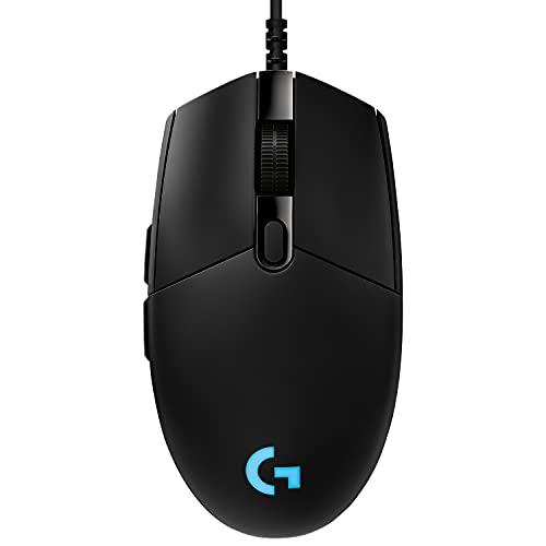 Logitech G PRO Mouse Gaming, Sensore HERO 25K, 25.600 DPI, RGB, Ultraleggero, Progettato per eSport, 6 Pulsanti Programmabili, Memoria Integrata, PC/Mac/Laptop - Nero