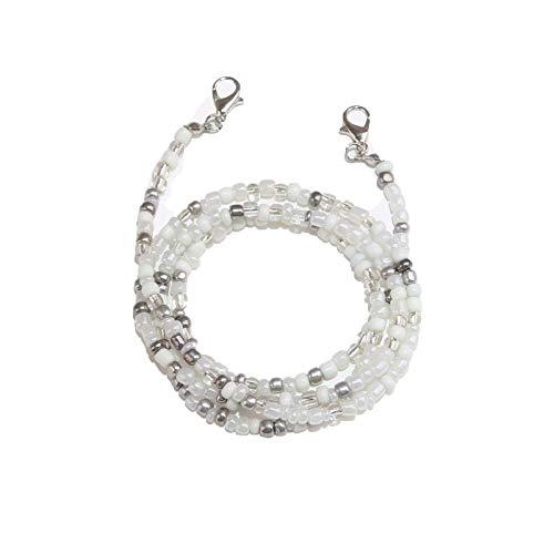 Lanyards 1 cordón con cuentas con clips de encaje para el cuello, gafas de sol y cadena de cuentas, accesorios para regalo
