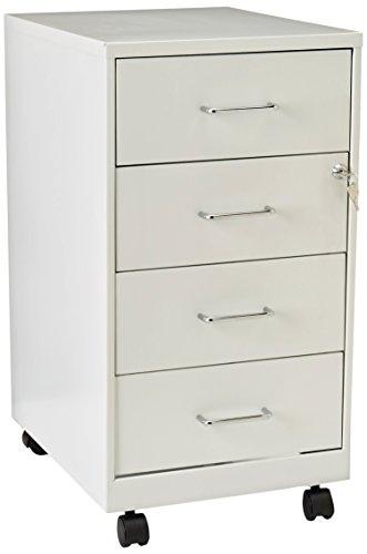 Lorell 4 Drawer File Cabinet White