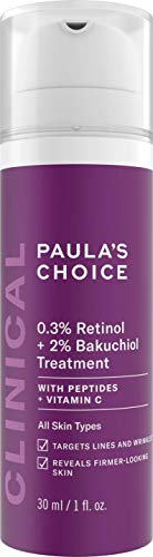 Paula's Choice Clinical 0,3% Retinol & 2% Bakuchiol Treatment - Anti Aging Serum gegen Falten & Flecken - mit Peptiden - Alle Hauttypen - 30 ml