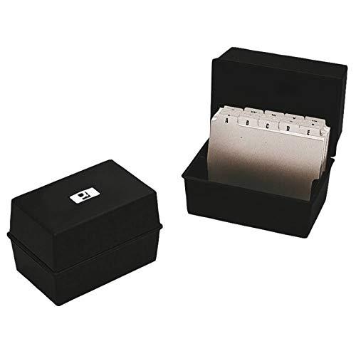 Q-Connect KF10010 6x4 tum kortindexbox – svart