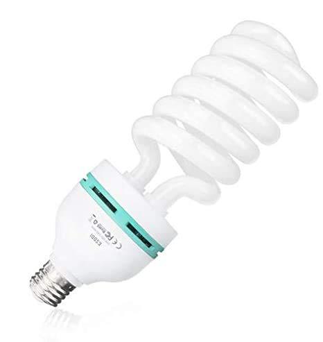 ESDDI 85W Fotolampe Fotoleuchte Tageslichtlampe Glühlampe Dauerlicht Energiesparlampe E27 Birne für Fotostudio Studioleuchte