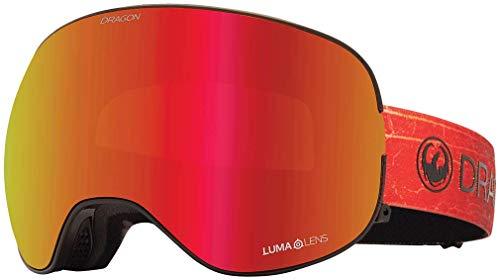 드래곤 얼라이언스 X2 고글 + 보너스 렌즈 - 인페르노 루말렌스 레드 이온 + 루말렌 로즈