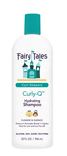 Fairy Tales Curly-Q Daily Hydrating Shampoo for Kids - Shampoo For Curly Hair - Paraben Free, Sulfate Free, Gluten Free, Nut Free - 32 Oz