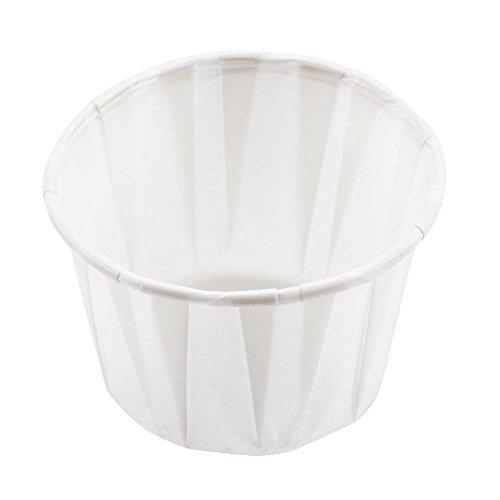 Solo Papier-Souffle-Förmchen 60ml – 250Stück | gewachstes Papier, Auflaufförmchen, Portionsförmchen, Saucentöpfe, Gewürztöpfe