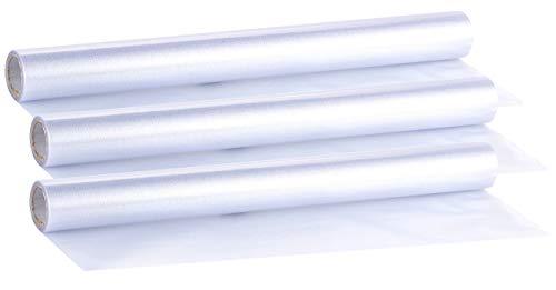 infactory Fensterfolie Sichtschutz: 3er-Ser statisch haftende Milchglas-Sichtschutz-Folien, je 45 x 200 cm (Fensterfolie Sichtschutzfolie)