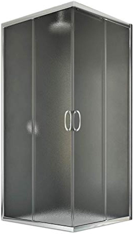 Junior Duschkabine 72x72 CM H185 Strukturglas