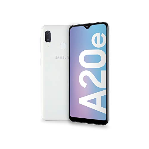 Samsung Galaxy A20e Display 5.8', 32 GB Espandibili, RAM 3 GB, Batteria 3000 mAh, 4G, Dual SIM Smartphone, Android 9 Pie, (2019) [Versione Italiana], Whit
