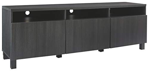 Signature Design by Ashley Yarlow Extra Large TV Stand, Black