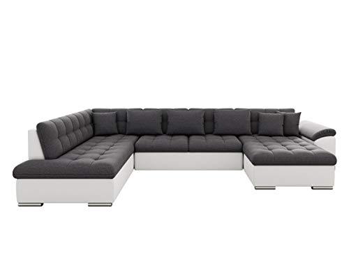 Mirjan24 Eckcouch Ecksofa Niko! Design Sofa Couch! mit Schlaffunktion! U-Sofa Große Farbauswahl! Wohnlandschaft! (Ecksofa Rechts, Soft 017 + Boss 12)