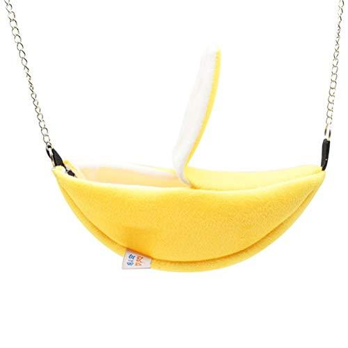Merkts Haustier-Bananen-Hängematte, weiche Bananen-Hängematte, Spielzeug, Hamster-Bananennest, warm, Winter, Hängematte, Mond, Boot, Hütte, Hamster, Zubehör, kleine Haustier-Banane