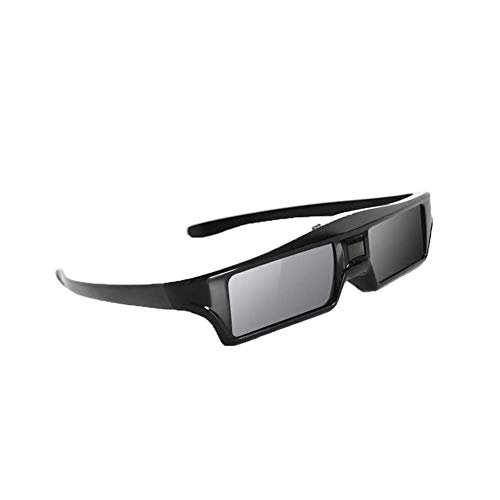YYDZ Recargable Activo de 3D Lentes vidrios del Obturador Ventana proyector for Bluetooth 3D EPSON, NEC, Sony, Sharp, Samsung 3D proyectores y televisores con tecnología Bluetooth XX (Color : Black)