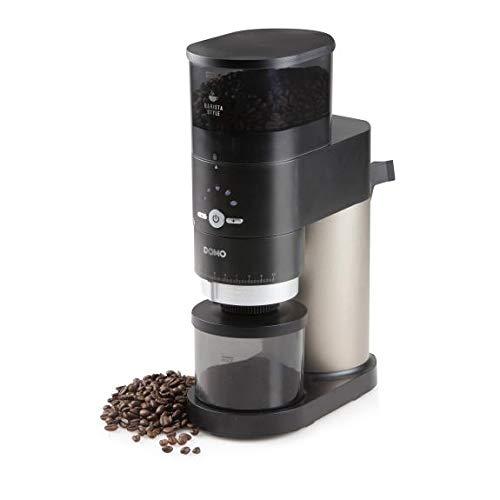 DOMO DO715K DO715K Kaffeemühle Schwarz, Silber Stahl-Kegelmahlwerk