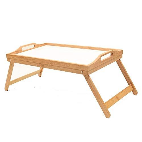 ZGQA-GQA Cama portátil bandeja de cama Tabla, Piernas tabla de la bandeja con cama plegable, que sirve desayuno en la cama o uso como una mesa de TV, bandeja ordenador portátil (color: natural, Tamaño
