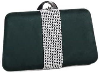 JINGXU Ladies Evening Bag Trapezoid Shiny Rhinestone Clutch