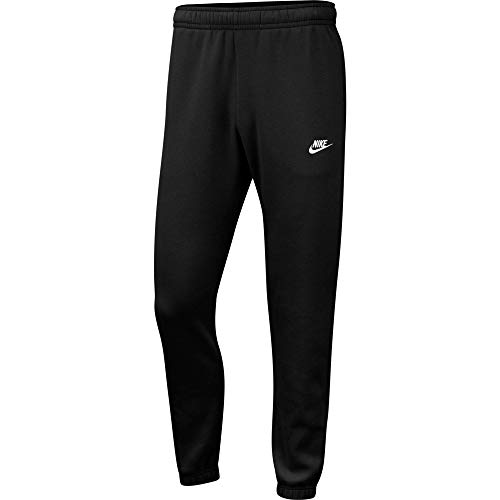Nike Mens Sportswear Club Fleece Sweatpants, Black/White, XL