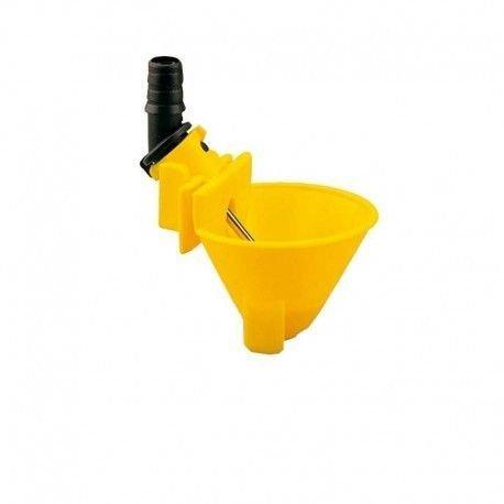 COPELE 30342- Bebedero cazoleta copavi tubo flexible, color amarillo