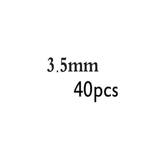 Accesorios de bricolaje 2-5mm 925 Cuentas redondas de plata esterlina Perlas espaciadoras Hallazgos de Joyas Accesorios Accesorios Plata de placa para Pulsera y CollarJejon Para la fabricación de joya