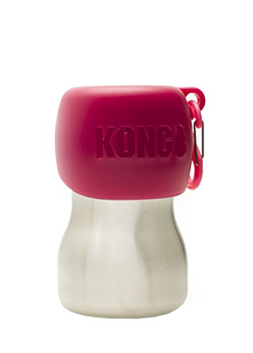 KONG H2O Stainless Steel Water Bottle, 270 ml, Small, Pink
