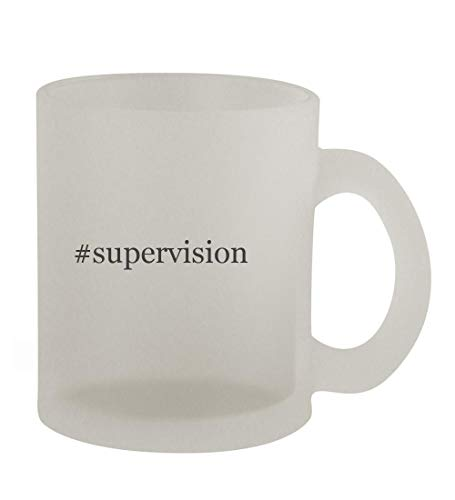 #supervision - 10oz Hashtag Frosted Coffee Mug Cup, Frosted