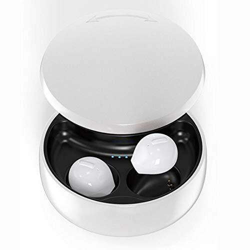 JZTOL Auriculares Bluetooth, Tapones para los oídos Deportivos, Auriculares Intra-oídos, reducción de Ruido estéreo Binaural 5.0, Adecuado para Ejercicios de Fitness, Regalos (Color : White)