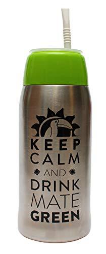 Matermo Yerbomos 4.0 Green 580 ml for Yerba Mate Tee 580 ml un accesorio portátil para Yerba Mate, funciona como un termo con una botella de agua y mantiene el agua