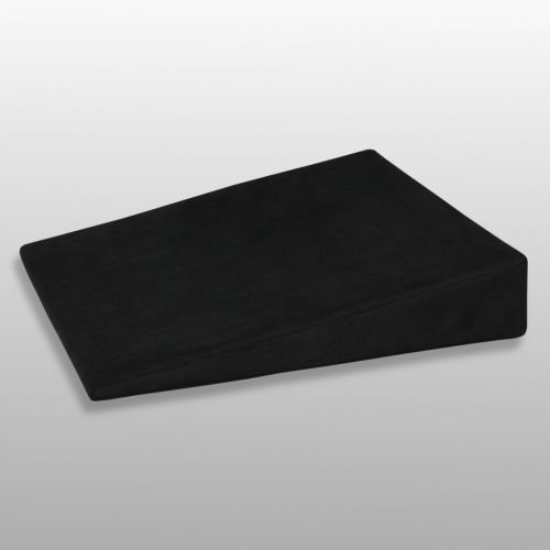 Fränkische Schlafmanufaktur Sitzkissen Visco, viscoelastisches Keilkissen, Stuhlkissen Farbe Schwarz