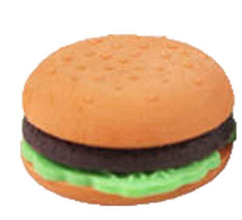 Boner 10 stks leuke cartoon potlood pizza gum stationaire schoolbenodigdheden rubber kawaii pen voedselfruit gummen, hamburger 10 stks