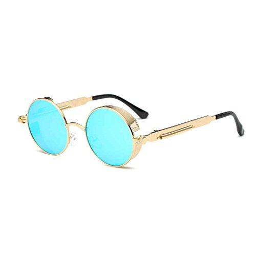 Minzhi Minzhi Frauen M?nner Steampunk Sonnenbrillen Metallrahmen Runde Brillen UV400 Brillen