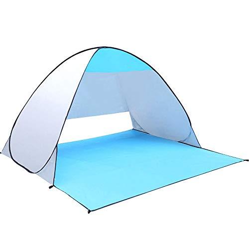 Qazxsw Carpa emergente Carpa portátil de Playa automática al Aire Libre, Anti UV Refugios solares para 2 Personas Jardín al Aire Libre Camping Pesca Picnic
