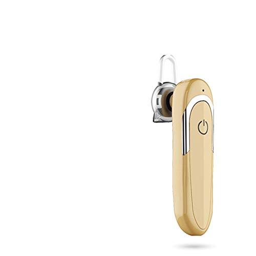 Draadloze bluetooth-hoofdtelefoon met ruisarme V5.0, sporthoofdtelefoon voor fitnessstudio, hometrainer IPX6, Goud