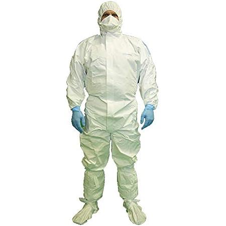 bianco Tuta protettiva chimica con cappuccio bianco per chimica e biologica in tessuto non tessuto SMS XL//175 1