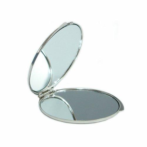 Specchio Compatto Doppio Ingranditore in Madreperla Specchio Per Truccarsi Per Trucchi o Cosmetici Specchio Tascabile Con Motivo Mosaico Giallo Arancione Blu