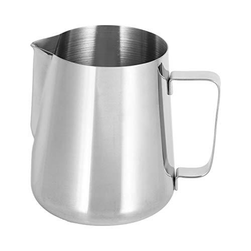 Ufolet Taza de café con Leche, Taza de Espuma de Leche, Mango ergonómico cómodo para el hogar para Bar(1000ml Corrosion Scale)