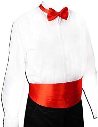 TDDGG Gentleman Solid Wide Silk Satin Elastic Belly Band Tuxedo Cummerbund Commercial Banquet Model Business Elite (Color : D)