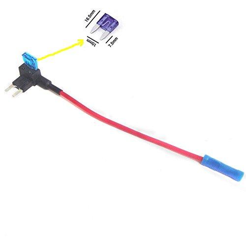 Qiorange ATM APM Flachsicherungsadapter Sicherungshalter Spannungsabgriff KFZ Flachsicherungen Autosicherungs (1Pcs)