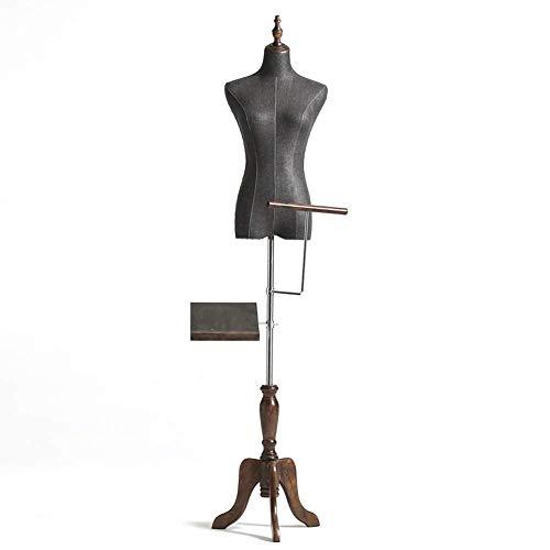 Body Torso met massief houten nekdop en statief, dames etalagepop voor kledingvertoning, schoenen- en broekrek
