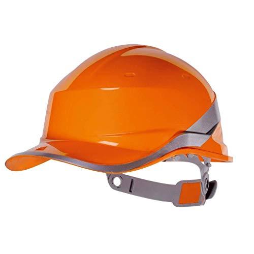 Casco ABS es resistente a las altas temperaturas, humo de aislamiento y casco Portable (Color: Blanco) eternal (Color : Orange)