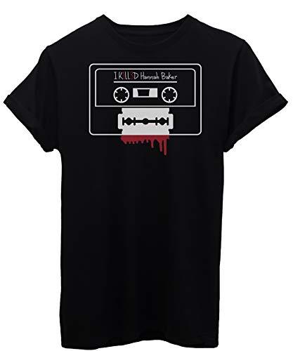 iMage T-Shirt Cassetta Lametta 13 - Serie TV - Donna-XL-Nera