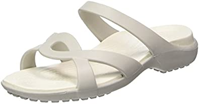 crocs Womens Meleen Twist Sandal W Pearl White Oyster Sandal