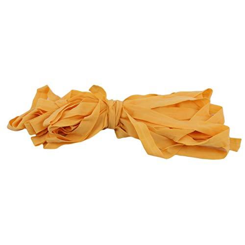 Minshang - Banda elástica resistente y elástica para la oreja, correa para manualidades, color naranja