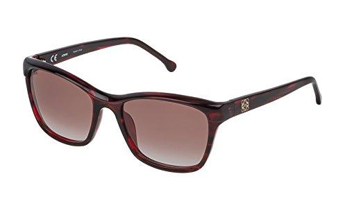 Loewe SLW965M550761 Gafas de sol, Shiny Transparente Honey, 55 para Mujer