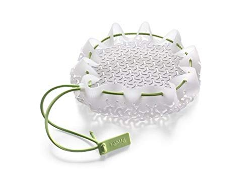 Lékué Kochnetz, weiß, elastisches Netz, um Lebensmittel getrennt zu kochen, Silikon, Einzelgröße